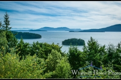 View to San Juan Islands from rear deck, 1242 Brighton Crest, Bellingham, WA. © 2015 Mark Turner