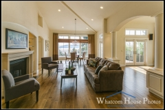 Great room living area, 1242 Brighton Crest, Bellingham, WA. © 2015 Mark Turner