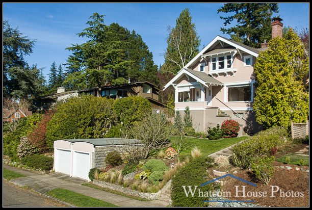 Front exterior, elevated view, 715 15th Street, Bellingham, WA. © 2016 Mark Turner