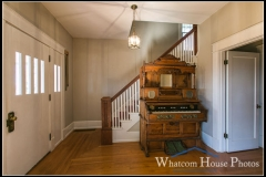 Front entry hall & stairs, 715 15th Street, Bellingham, WA. © 2016 Mark Turner